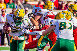 NORMAL, IL - October 16: Quincy Patterson during a college football game between the NDSU (North Dakota State) Bison and the ISU (Illinois State University) Redbirds on October 16 2021 at Hancock Stadium in Normal, IL. (Photo by Alan Look)