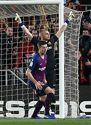 January 30, 2019 - Barcelona, Spain - Jasper Cillessen celebrates to save a penalty during the match between FC Barcelona and Sevilla FC, corresponding to the secong leg of the 1/4 final of the spanish cup, played at the Camp Nou Stadium, on 30th January 2019, in Barcelona, Spain. Photo: Joan Valls/Urbanandsport /NurPhoto. (Credit Image: © Joan Valls/NurPhoto via ZUMA Press)