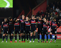 Football - 2018 / 2019 EFL Sky Bet League One - Play-Off Semi-Final, Second Leg: Charlton Athletic (2) vs. Doncaster Rovers (1)<br /> <br /> Doncaster Rovers players line up during the penalty shoot out, at The Valley.<br /> <br /> COLORSPORT/ASHLEY WESTERN
