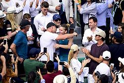 June 9, 2018 - Paris, France, France - joie de Simona Halep (Rou) en fin de match avec son clan (Credit Image: © Panoramic via ZUMA Press)