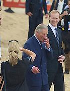 Prince Charles arrives at Bondi Beach, Sydney, Australia. The event is an NRL exhibition match. 09.11.12
