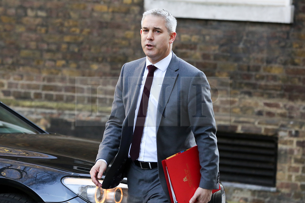© Licensed to London News Pictures. 19/02/2019. London, UK. Stephen Barclay- Brexit Secretary arrives in Downing Street for the weekly Cabinet meeting. Photo credit: Dinendra Haria/LNP