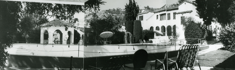 1954 Pool area, Garden of Allah Hotel on Sunset Blvd. in West Hollywood