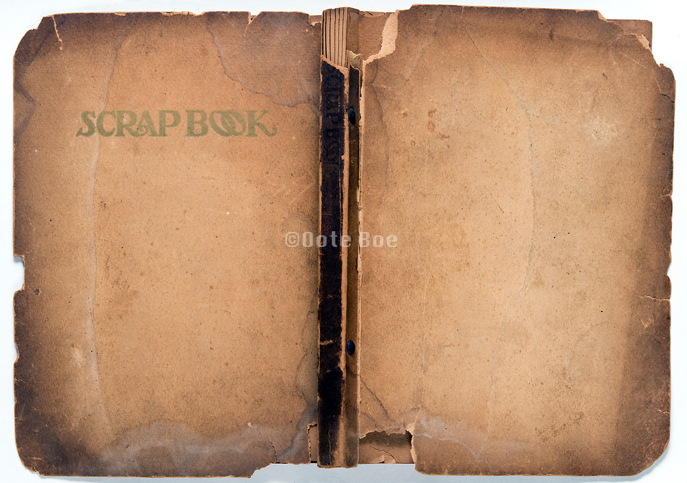 front and back page of a deteriorating notebook