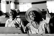 Worshippers at a chruch in Cap-Haïtien, Haiti