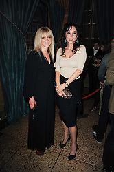 Left to right, JO WOOD and MARIE HELVIN at a party to celebrate the 135th anniversary of The Criterion restaurant, Piccadilly, London held on 2nd February 2010.