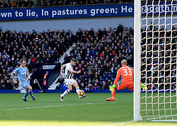 4 February 2017 - Premier League - West Bromwich Albion v Stoke City - James Morrison of West Bromwich Albion opens the scoring (1-0) - Photo: Paul Roberts / Offside