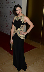 Kate Victors arrives at the London Critics' Circle Film Awards at the May Fair Hotel in London.