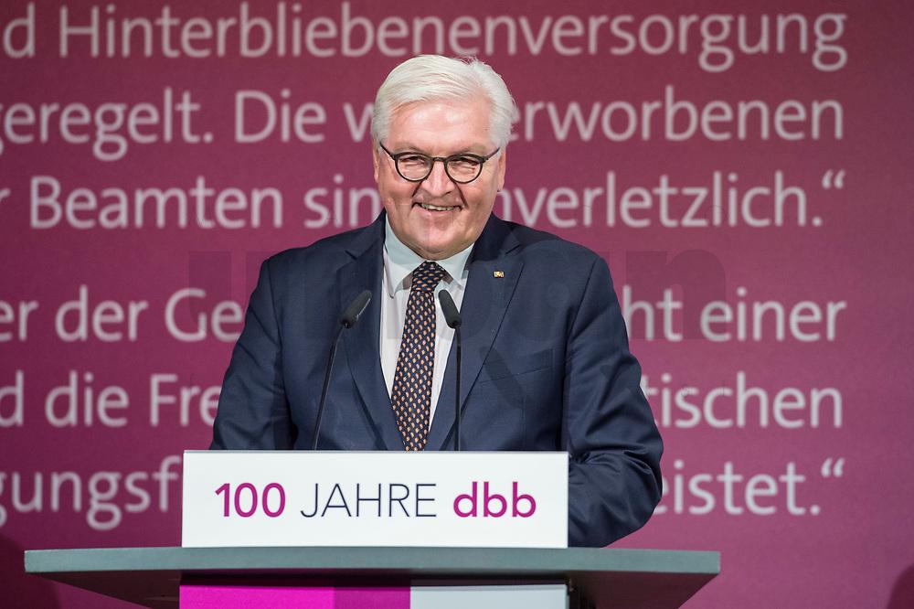 29 NOV 2018, BERLIN/GERMANY:<br /> Festakt mit Bundespraesident Steinmeier anl. des 100. Gruendungsjubilaeums des Beamtenbunds, dbb forum berlin<br /> IMAGE: 20181129-01-132<br /> KEYWORDS;´: Gründung, Jubiläum,