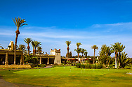 08-10-2015 -  Foto van Clubhuis en putting green bij Golf du Soleil in Agadir, Marokko. De 36 holes van Golf du Soleil werden ontworpen door Fernando Muela en Gerard Courbin.