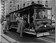 Trial Run of California Street Cable Car From Van Ness Avenue to Market with Cable Car 55 Photographed at California Street and Van Ness Avenue | December 19, 1957