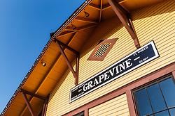 Cotton Belt Railroad Depot, Grapevine, Texas USA