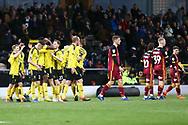 Burton Albion forward Lucas Akins (10) scores a goal 1-0 and celebrates during the EFL Sky Bet League 1 match between Burton Albion and Bradford City at the Pirelli Stadium, Burton upon Trent, England on 26 January 2019.