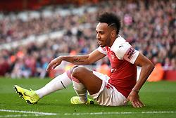 Arsenal's Pierre-Emerick Aubameyang during the Premier League match at the Emirates Stadium, London.