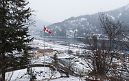 A wintery day in the mountain town of Nelson, British Columbia