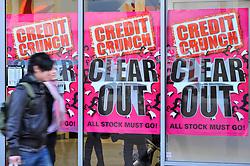 JJB credit crunch sale Reading UK Jan 2009