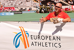 Markus Esser of Germany competes in the Mens Hammer Qualification during day one of the 20th European Athletics Championships at the Olympic Stadium on July 27, 2010 in Barcelona, Spain. (Photo by Vid Ponikvar / Sportida)