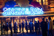 Opening night of Singing in the Rain. Palace Theatre. Cambridge Circus. London. 15 February 2012.