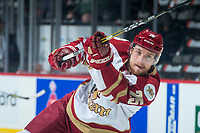 REGINA, SK - MAY 22: Jeffrey Truchon-Viel #25 of Acadie-Bathurst Titan warms up against the Hamilton Bulldogs at the Brandt Centre on May 22, 2018 in Regina, Canada. (Photo by Marissa Baecker/CHL Images)