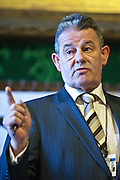 Mark Freeman, Deputy General secretary of the Prison Officer Association speaking to members of the Trade Union Coordinating Group meeting in room 14 at the House of Commons , London.