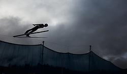 01.01.2016, Olympiaschanze, Garmisch Partenkirchen, GER, FIS Weltcup Ski Sprung, Vierschanzentournee, Probedurchgang, im Bild Michael Hayboeck (AUT) // Michael Hayboeck of Austria during his Trial Jump for the Four Hills Tournament of FIS Ski Jumping World Cup at the Olympiaschanze, Garmisch Partenkirchen, Germany on 2016/01/01. EXPA Pictures © 2016, PhotoCredit: EXPA/ JFK