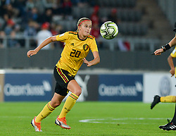 October 9, 2018 - Biel, SWITZERLAND - Belgium's Julie Biesmans pictured in action during a soccer game between Switzerland and Belgium's national team the Red Flames, Tuesday 09 October 2018, in Biel, Switzerland, the return leg of the play-offs qualification games for the women's 2019 World Cup. BELGA PHOTO DAVID CATRY (Credit Image: © David Catry/Belga via ZUMA Press)