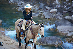 Cowgirl, Cydnie Clark working cows in Alpine Wyoming<br /> <br /> The cowboys of the west are under assault because many don't like to see their cows on public land. I have written a couple of articles articulating the problem. My photos are not to be used for anti public land ranching interests.