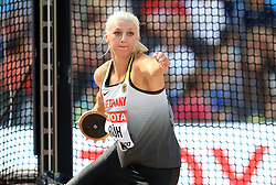 Germany's Anna Ruh competes in the Women's Discus Throw Qualifying during day eight of the 2017 IAAF World Championships at the London Stadium