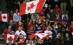Fans Of Canada at ice-hockey game Canada vs Finland at Qualifying round Group F of IIHF WC 2008 in Halifax, on May 12, 2008 in Metro Center, Halifax, Nova Scotia, Canada. Canada won 6:3. (Photo by Vid Ponikvar / Sportal Images)