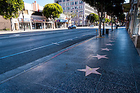 United States, California, Los Angeles. Hollywood Boulevard with the Walk of Fame.