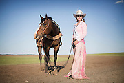 Nicole Briggs Miss Rodeo Canada 2014 during the rodeo in Brooks, Alberta, June 7, 2014. Photograph by Todd Korol for the Toronto Star
