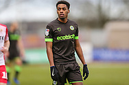 Forest Green Rovers Reece Brown(10) during the EFL Sky Bet League 2 match between Stevenage and Forest Green Rovers at the Lamex Stadium, Stevenage, England on 26 January 2019.