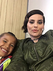 """Nelly Furtado releases a photo on Twitter with the following caption: """"""""Backstage at #wedaycanada parliament hill ! On in fifteen check their fb live feed ✨"""""""". Photo Credit: Twitter *** No USA Distribution *** For Editorial Use Only *** Not to be Published in Books or Photo Books ***  Please note: Fees charged by the agency are for the agency's services only, and do not, nor are they intended to, convey to the user any ownership of Copyright or License in the material. The agency does not claim any ownership including but not limited to Copyright or License in the attached material. By publishing this material you expressly agree to indemnify and to hold the agency and its directors, shareholders and employees harmless from any loss, claims, damages, demands, expenses (including legal fees), or any causes of action or allegation against the agency arising out of or connected in any way with publication of the material."""