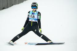 Jerneja Brecl of Slovenia during 2nd Round at Day 1 of World Cup Ski Jumping Ladies Ljubno 2019, on February 8, 2019 in Ljubno ob Savinji, Slovenia. Photo by Matic Ritonja / Sportida