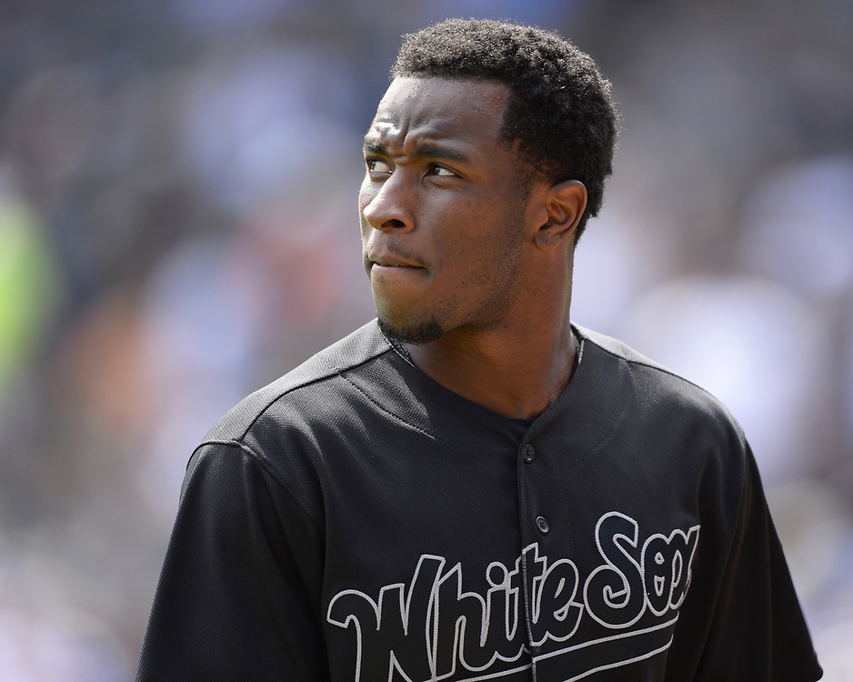 CHICAGO - AUGUST 25:  Tim Anderson #7 of the Chicago White Sox looks on against the Texas Rangers during Players Weekend on August  25, 2019 at Guaranteed Rate Field in Chicago, Illinois.  (Photo by Ron Vesely)  Subject:   Tim Anderson