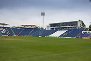 General view of the ground before  the Specsavers County Champ Div 2 match between Glamorgan County Cricket Club and Leicestershire County Cricket Club at the SWALEC Stadium, Cardiff, United Kingdom on 16 September 2019.