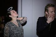 Greta Scacchi and Rhys Ifans,  Whitechapel and Hogan present Art Pls Drama Party 2007. Whitechapel Gallery. London. 8 March 2007. -DO NOT ARCHIVE-© Copyright Photograph by Dafydd Jones. 248 Clapham Rd. London SW9 0PZ. Tel 0207 820 0771. www.dafjones.com.