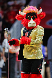 NORMAL, IL - February 02: Benny the Bull doing an entertainment routine during a college basketball game between the ISU Redbirds and the University of Loyola Chicago Ramblers on February 02 2019 at Redbird Arena in Normal, IL. (Photo by Alan Look)