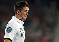 Football - European Championships 2012 - Italy vs Ireland<br /> <br /> Ireland's Robbie Keane pouts at a decision made by the match officials at the Municipal Stadaium, Poznan