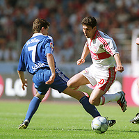 v.l.  Andreas MüLLER , Krassimir BALAKOV  Stuttgart  VfB Stuttgart - FC Schalke 04  1:0