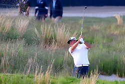 May 16, 2019 - Farmingdale, NY, U.S. - FARMINGDALE, NY - MAY 16:  Pat Perez of the United States hits out of the bunker on the 18th hole during the first round of the 2019 PGA Championship at the Bethpage Black course on May 16, 2019 in Farmingdale, New York. (Photo by Rich Graessle/Icon Sportswire) (Credit Image: © Rich Graessle/Icon SMI via ZUMA Press)