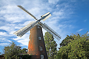 Buttrums Mill, windmill, Woodbridge, Suffolk, England. Buttrum's Mill is one of England's finest tower windmills.  Built in 1836 by famous Suffolk millwright  John Whitmore.