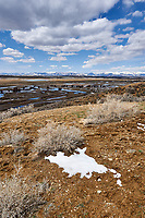 Eastern overlook of the wetlands in Arapaho National Wildlife Refuge. Image five of six taken with a Nikon D3 camera and 14-24 mm f/2.8 lens (ISO 200, 23 mm, f/16, 1/200 sec). Panorama composed using Auto Pano Giga Pro.
