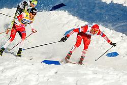 March 16, 2019 - Falun, SWEDEN - 190316 Johannes Høsflot Klæbo of Norway and Alexander Bolshunov of Russia in the Men's cross-country skiing sprint semi final during the FIS Cross-Country World Cup on march 16, 2019 in Falun  (Credit Image: © Daniel Eriksson/Bildbyran via ZUMA Press)