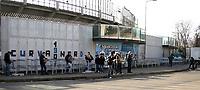 "Tifosi dell'Atalanta davanti allo stadio chiuso<br /> <br /> Atalanta fans out of the stadium. Some Italy stadiums were closed for security reasons after last week clashes after Catania Palermo<br /> <br /> Italian ""Serie A"" 2006-2007<br /> <br /> 11 Feb 2007 (Match Day 23)<br /> <br /> Atalanta-Lazio (0-0)<br /> <br /> ""Atleti Azzurri D'Italia"" Stadium-Bergamo-Italy<br /> <br /> Photographer:Jennifer Lorenzini INSIDE"