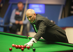 Referee Brendan Moore on day seventeen of the 2018 Betfred World Championship at The Crucible, Sheffield. PRESS ASSOCIATION Photo. Picture date: Monday May 7, 2018. See PA story SNOOKER World. Photo credit should read: Richard Sellers/PA Wire