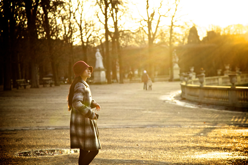 Late afternoon at the Jardin du luxembourg in Paris. Photo by Lorenz Berna