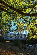USA, Oregon, Larwood Wayside, the Larwood Bridge in the midst of restoration work.