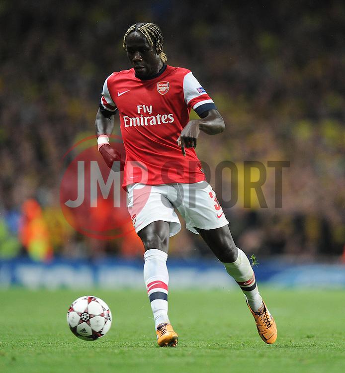 Arsenal's Barcay Sagna - Photo mandatory by-line: Alex James/JMP - Tel: Mobile: 07966 386802 22/10/2013 - SPORT - FOOTBALL - Emirates Stadium - London - Arsenal v Borussia Dortmund - CHAMPIONS LEAGUE - GROUP F