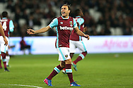 Mark Noble, the West Ham United captain in action. Premier league match, West Ham Utd v Manchester city at the London Stadium, Queen Elizabeth Olympic Park in London on Wednesday 1st February 2017.<br /> pic by John Patrick Fletcher, Andrew Orchard sports photography.